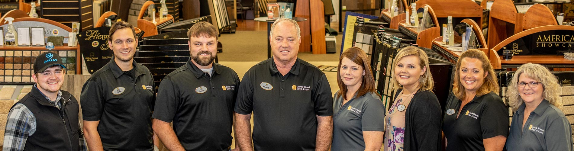 The staff of Crossville Wholesale Carpet