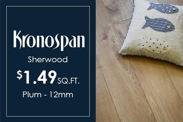 Kronospan Sherwood 12mm laminate on sale for $1.49 sq.ft.
