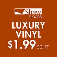 Shaw Floors Endura Plus Collection luxury vinyl $1.99 sq. ft.